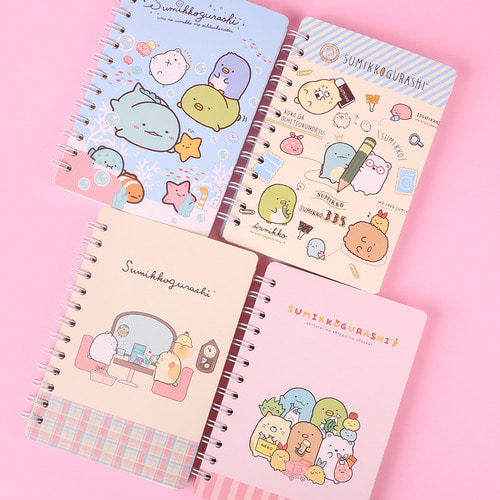 SUMIKKO GURASHI DOUBLE RING MINI NOTE